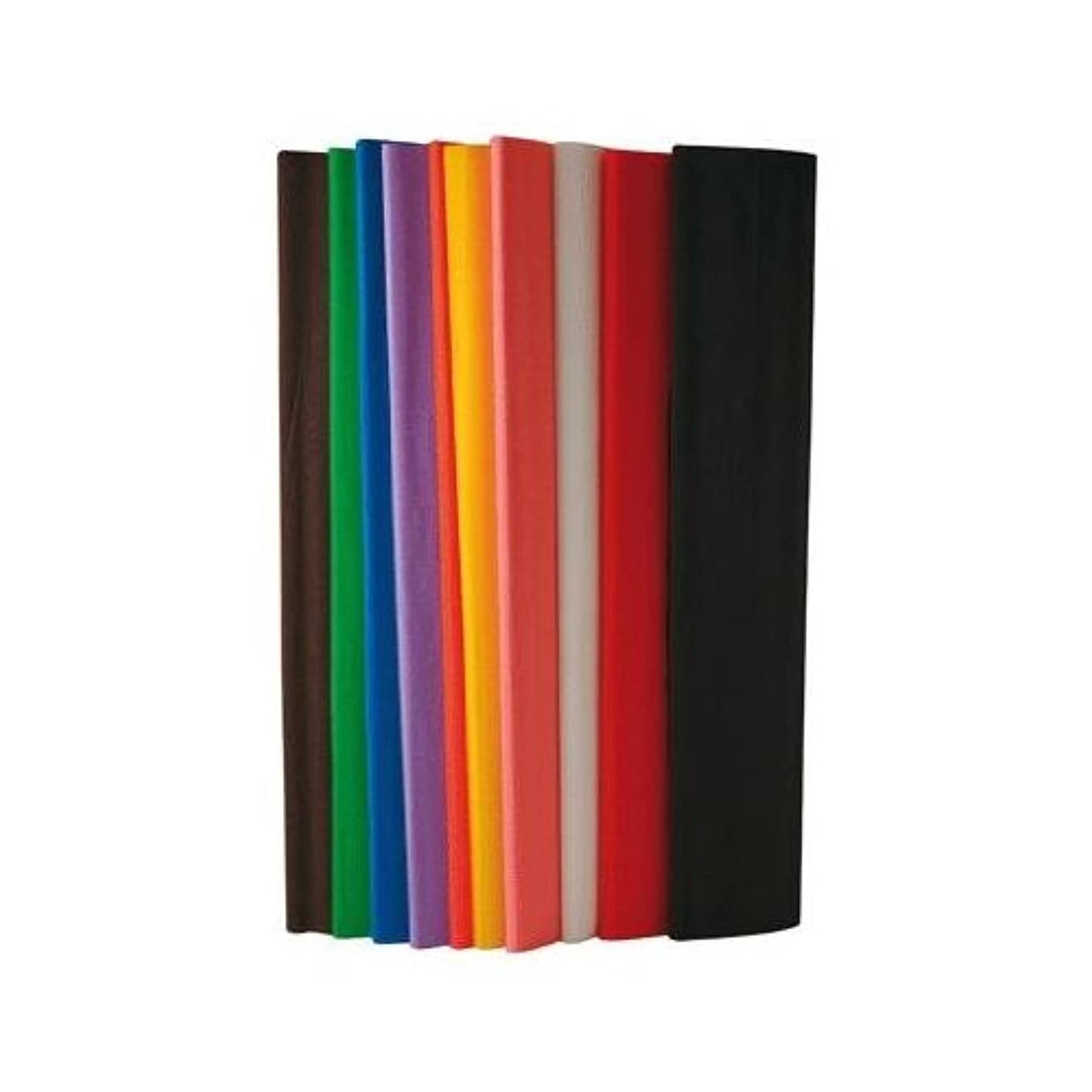 Clairefontaine Crepe Paper, 2.50 x 0.50 m, 10 Sheets, Assorted Colours