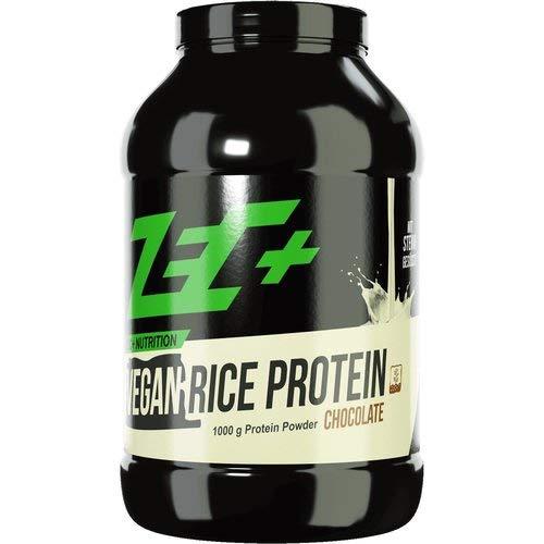 ZEC+ Reisprotein Eiweißpulver – 1000g, veganes Proteinpulver für rein pflanzliche Proteinversorgung, Reis Protein-Shake, Geschmack Schoko
