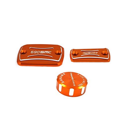 Gzcfesbn Accesorios de Moto Accesorios de Fluido de Aceite Taza de Tanque de Taza de Tanque de Freno Trasero Delantero Embrague Cilindro de Cilindro Depósito para KTM 690 SMC-R 2014-2018 Durable