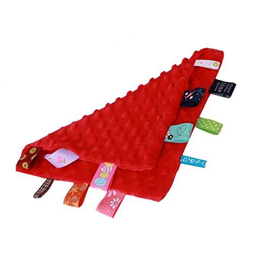 Fybida Toalla Infantil no tóxica, no Fluorescente, pañuelo de bebé de Color Tridimensional, inofensivo para desarrollar la Inteligencia(Red)