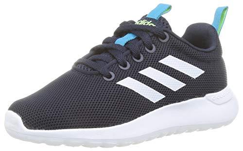 adidas Unisex-Child Lite Racer CLN Sneaker, Legend Ink Footwear White Signal Green, 40 EU
