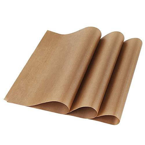 ALUYF Dauerbackfolie Antihaftbeschichtet Backfolie Das Premium Backpapier Zum Grillen geeignet, kann gegrillt gebacken in die Mikrowelle oder in den Ofen gestellt Werden (10 Blatt 1 Satz 30 * 40cm)