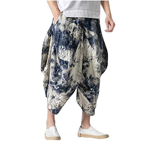 ZODOF Hombre Mujer Pantalones Harem Unisex Bombachos Ligeros, Hippies, de algodón, Casuales, Boho, Hechos a Mano para Yoga