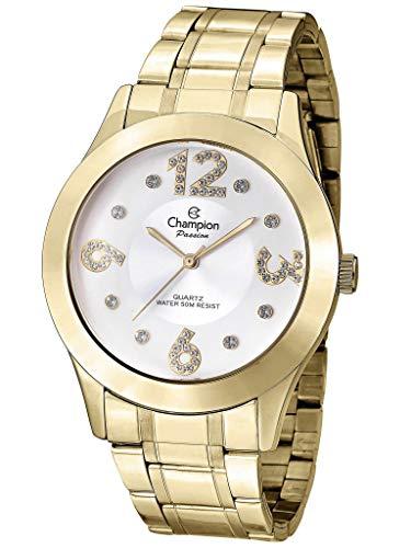 Kit, Relógio Analógico, Champion, Mais semi-jóia, Feminino, CN29178B, Dourado