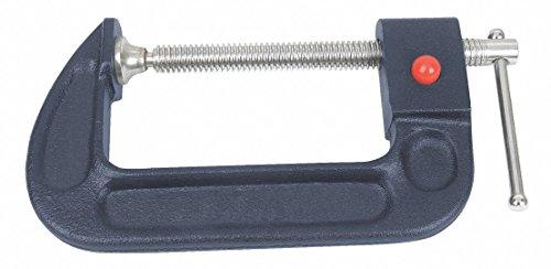 Westward 10D550 C-Clamp, Quick Release, 4 In, 2-1/4 In Deep