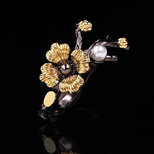 Chutoral GanGuWoDeLongShangMaoYouXianGongSi Statement-Ehering-Ring, Vintage, mehrschichtige Zweig-Ringe für Frauen (6)