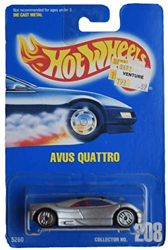 DieCast Hotwheels Avus Quattro, Silver 208
