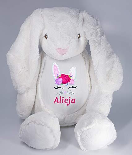 Peluche lapin avec prénom personnalisé brodé bébé