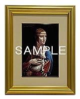 大塚国際美術館 陶板 額装品A「白貂を抱く貴婦人」 レオナルド・ダ・ヴィンチ 絵 プレート