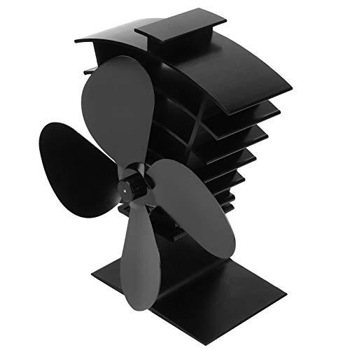 Mxzzand Herdventilator zirkulieren warme Sicherheit reduzieren den Holzverbrauch Wärmeverteilungsventilator schnell Kamin Wärmeventilator für die Installation über dem Kaminofen nach Hause