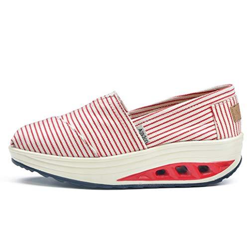 Frau Textil Schuhkorb Mode Wedge Rising Atmungsaktiv im Frühling Sommer ohne Schnürsenkel in Casual Trend Ausdauer