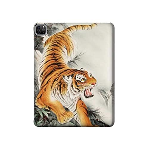 Innovedesire Chinese Tiger Brush Painting Tablet Case Cover Custodia per iPad PRO 12.9 (2021)