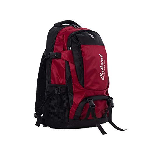 Cakard 0919 Laptop 17 Zoll | Rucksack 50l | Trekkingrucksack | Wanderrucksack | Rucksack Für Damen&herren | Waterproof Backpack | Hiking Backpack | Gaming Laptop 17 Zoll | Outdoor Rucksack | (Rot)