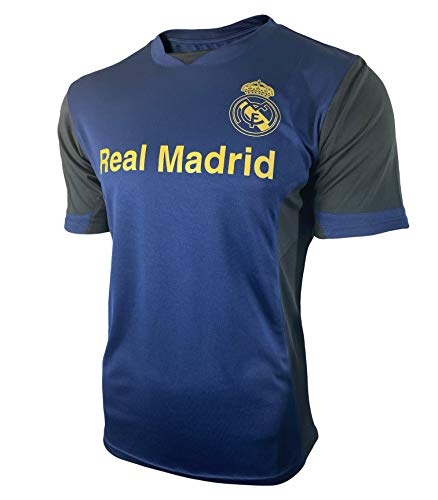 ICON SPORTS Real Madrid Jersey 2019 2020 Soccer Fans Adult Men Blue Training (Navy, L)