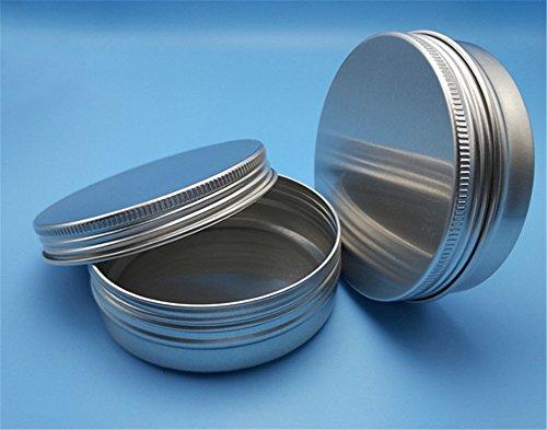 Interesting® 2Pcs Cuchara de aluminio de plata de la botella de aluminio de la botella de la botella de la caja de almacenaje del envase del maquillaje del maquillaje (60ML)