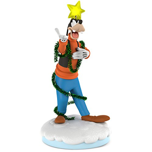 Hallmark Keepsake Ornament 2018 Year Dated, Disney Christmas Carolers Gleeful Music, Light and Motion, Goofy Storyteller