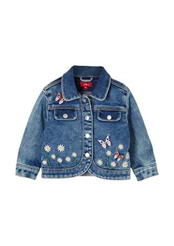 s.Oliver Junior Baby-Mädchen 405.10.102.26.150.2059285 Jeansjacke, Blue Stretched den, 86