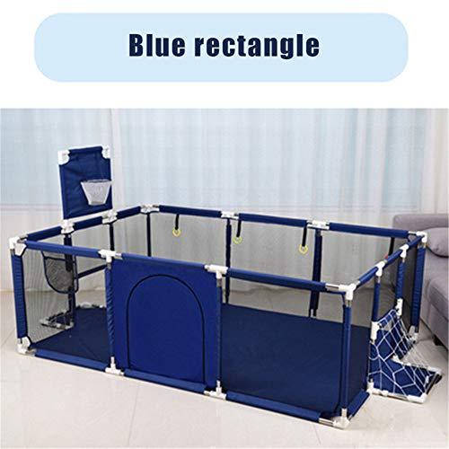 Kinderspeelplaats Baby Box Kinderspeelgoed Safety Barrier Pool Opvouwbare Kids Basketbal Voetbal Veld Voor De 0-6 Jaar Game Tent,Blue