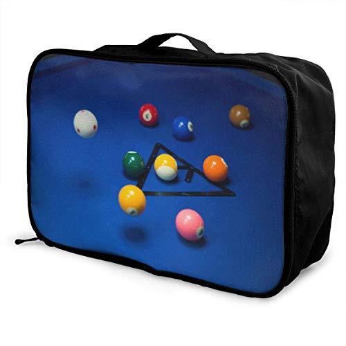 Qurbet Reisetaschen,Reisetasche, Lightweight Large Capacity Portable Duffel Bag for Men & Women Triangle Billiards Sport Duffel Bag Backpack