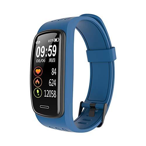 GYY Pulsera Smart Watch Masculino Femenino Banda Inteligente IP68 Impermeable Tarifa Cardíaca Monitoreo De Salud Pulsera De Aptitud Pulsera Inteligente (Color : CB01 BU)