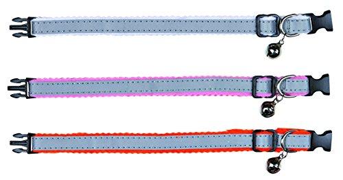 Trixie 4145 Katzenhalsband, reflektierend, Kunststoff
