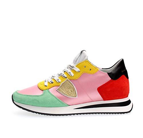 Philippe Model Trpx Satin Pop Rosa Rot Sneaker Damen Ss 2020