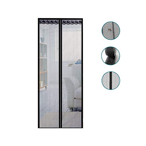 XXJF Insektenschutz Fliegengitter Tür Moskitonetz Automatisches Schließen Klebmontage Screen Door Mesh Durable Polymer Mesh Heavy Duty Mesh for Porch, Patio, Doorway, Keep Bugs Out