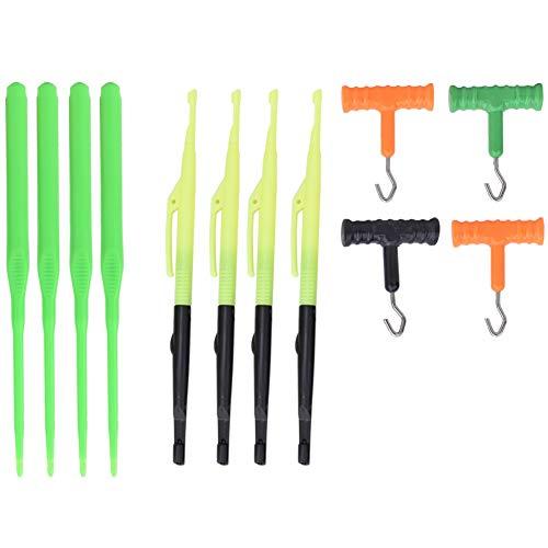 Vbestlife 4 Set Hook Dégorger Set Hook Remover Hoed Naald in T-vorm lijn Trekker Aanvaller Aanvaller Visaccessoires Set