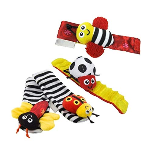 Best Price! Pronto USA Baby Wrist Rattle and Foot Rattles, Animal Toys Finder Socks Development Toy ...