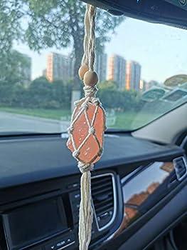 Handmade Himalayan Salt Car Rearview Mirror Pendant Car Decoration Hanging Ornaments for You