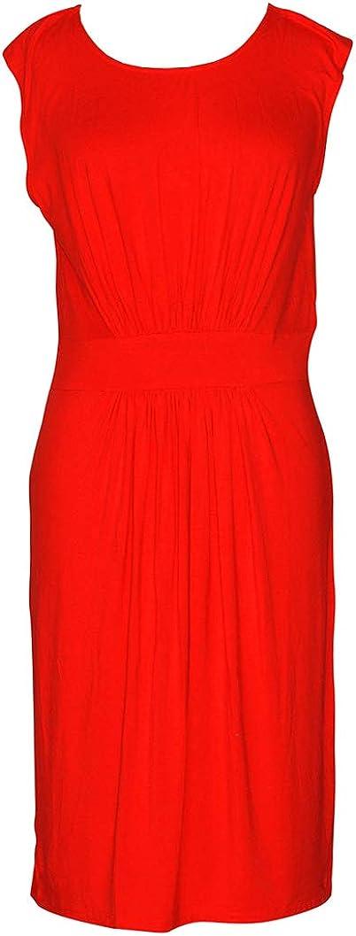 Doria Women's Front Pleated Soft Jersey Dress