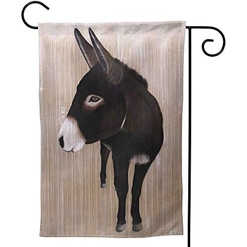 Zome Lag Ezel Schilderij Dubbele Tuin Vlag Decoratieve Welkomstvlag Welkom vaandel S(48X32) Als afbeelding