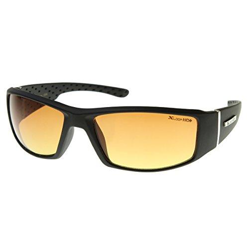 HD Active Frame Sports Wrap Sunglasses (Matte Black)