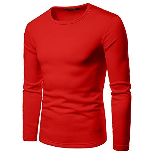 DNOQN Herren Weihnachtslanges Hülsen T-Shirt Entwerfen Sie Ihr Einzigartiges Materielles Paket DIY Hemd Herren Freizeit Herbst Poloshirt T Shirt Lang Rot XXXL