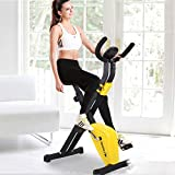 FANGX Folding Indoor Exercise Bike Cycling Spin Bike,Lightweight Fitness Equipment Portable Arm Home Pedal Exerciser Gym Leg Cardio Training