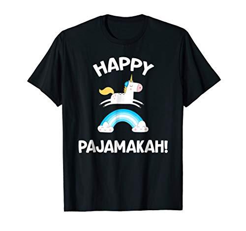 Hanukkah Pajamas Shirt Pajamakah Unicorn Funny Jewish PJs