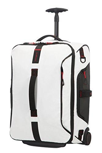 Samsonite Paradiver Light - Reisetasche/Rucksack mit 2 Rollen S, 55 cm, 51 L, Weiß (White)