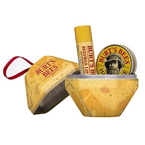 Burt's Bees A Bit 2 Stück Geschenkset - 100% natürlicher Bienenwachs Lippenbalsam mit Vitamin E und Pfefferminz, 65 g