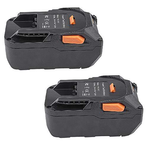 ARyee 18V 4.0Ah R840087 Replacement Battery for RIDGID 18V Drill R840087 R840083 R840086 R840085 R840084 Lithium Ion Cordless Power Tool (2)
