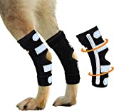 NeoAlly Super Supportive Dog Rear Leg Braces with Dual Metal Spring Inserts to Stabilize and Support Dog Hind Legs, Help Dogs with Injuries Sprains Arthritis ACL CCL (Large Pair)