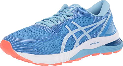 ASICS Women's Gel-Nimbus 21 Running Shoes, 9M, Blue Coast/Skylight