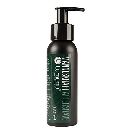 Deluxe Aftershave Lotion für Ihn MANNESKRAFT (100ml), kühlendes After Shave Balsam für Gesicht & Körper mit pflegendem Jojoba, Urea & Vitamin E, von Venize