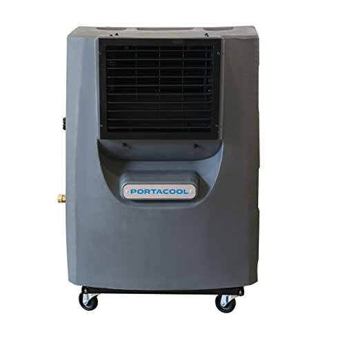 Portacool PACCY130 Cyclone 130 Indoor/Outdoor Patio, Garage, Camping Portable 2 Speed 700 Square Foot Evaporative Swamp Air Cooler with 16 Gallon Tank