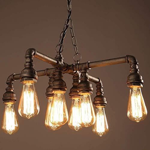 Luster industriële buizen met 8 lampen tot 480W for metalen montuur Eettafel Bar Haard