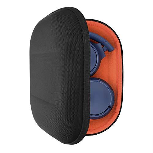 GEEKRIA UltraShell Étui pour Casque pour JBL Tune 600 BTNC, Live 400BT, Tune 500BT, T450BT, Casque E45BT et Plus, Sac de Transport de Voyage à Coque Rigide avec Espace pour Les Accessoires (Noir)