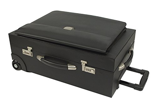 Bond Street 457716BLK Rolling Sample/Catalog Case, 14 1/4 x 23 1/2 x 11 1/4, With Locks, Koskin, Blk