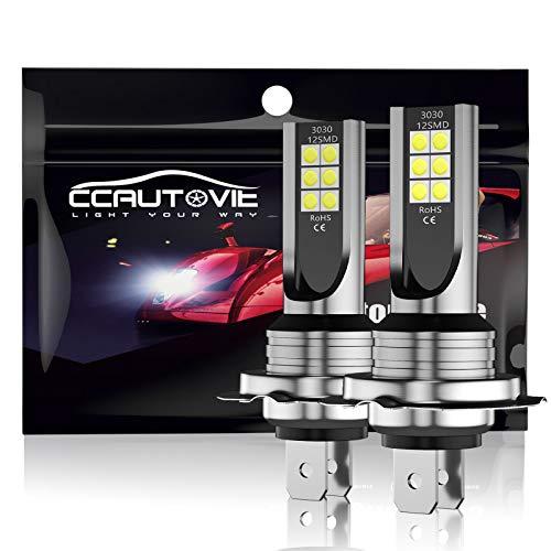 CCAUTOVIE Ampoules LED pour Feux de Brouillard de Voiture H7 Feux de Circulation diurnes DRL 60W 6000K Blanc