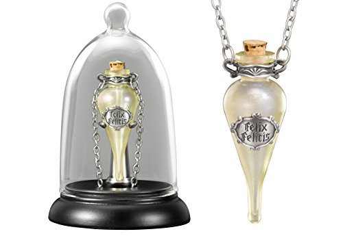 The-Noble-Collection-Felix-Felicis-Pendant-and-Display