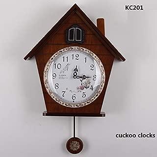 DADATU Wall Clock Wood Light-Controlled Time Cuckoo Clocks Machine Core Cuckoo Clock Wall Clock Kairos