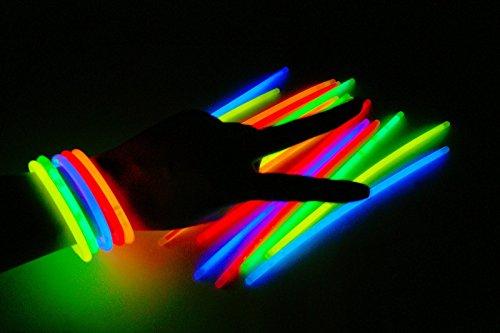 1000x Knicklichter Glowsticks Leuchtstäbe 5 verschiedene Farben 5x200mm
